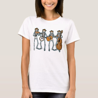 Country Music Playing Skeletons T-Shirt