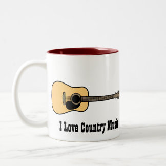 Country Music Two-Tone Coffee Mug