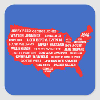 Country Music USA Square Sticker