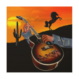 COUNTRY MUSIC WOOD WALL ART
