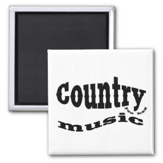 Country music yeehaw square magnet