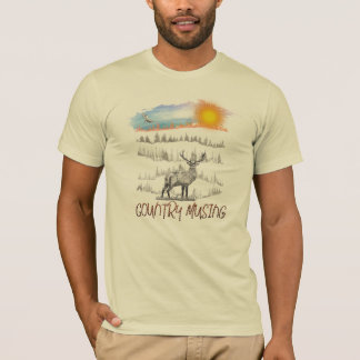 Country Musing logo on a short sleeved T-shirt