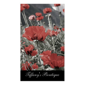 country nature landscape red poppy flower business card templates
