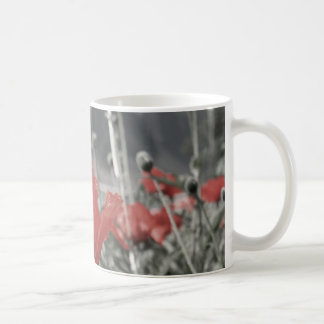 country nature landscape red poppy flower mug