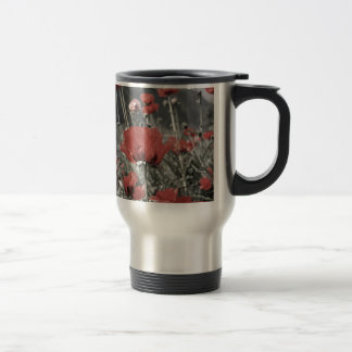country nature landscape red poppy flower coffee mugs