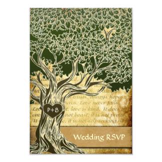 Country Oak Tree Vintage Wedding RSVP Cards