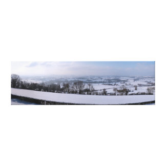 Country of Herve under snow Canvas Print