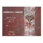 Country Painted Wood Skeleton Keys Wedding RSVP