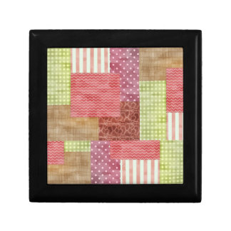 Country Patchwork Chic Pattern Quiltblocks Gift Box