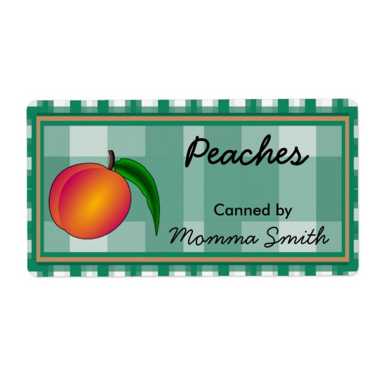 Country Peach Custom Canning Labels