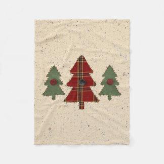 Country Pine Fleece Blanket