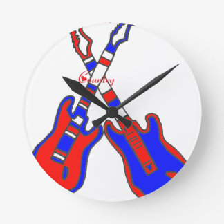 COUNTRY.png GUITAR Round Clock