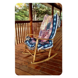 Country Porch Rocking Chair Flexible Magnet