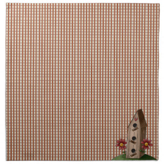 Country Primitive Red Check Gingham Cloth Napkins