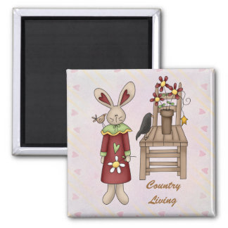 Country Products Square Magnet