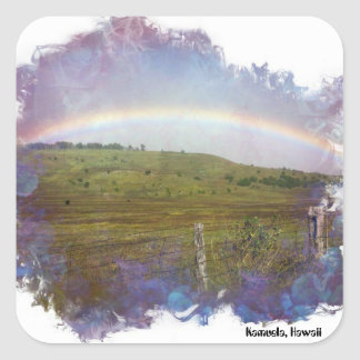 Country Rainbow Square Sticker