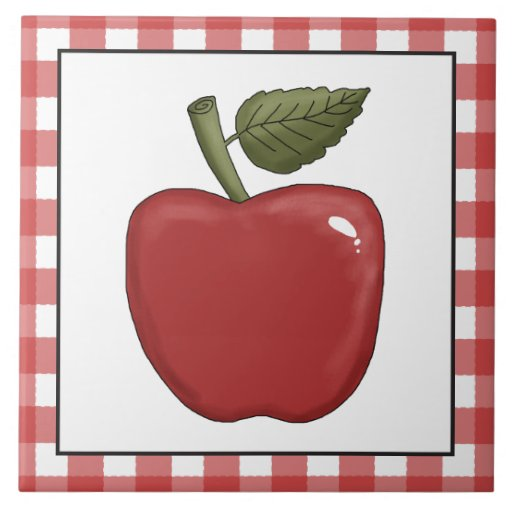 Country Red apple kitchen tile Tile