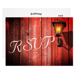 Country Red Barn Wedding - RSVP Card
