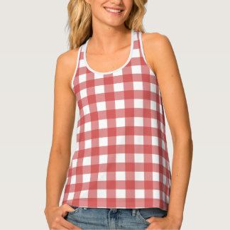 Country Red Gingham Singlet