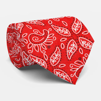 Country Red Paisley pattern tie