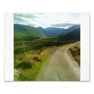country road in ireland photographic print