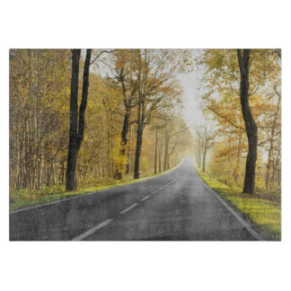 Country Road In Morning Cutting Board