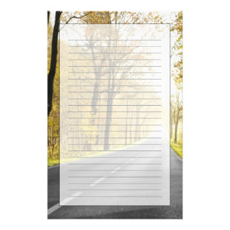 Country Road In Morning Personalized Stationery