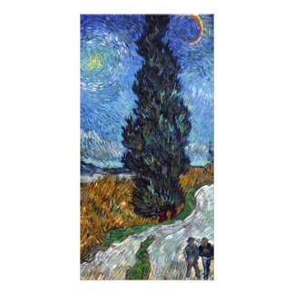 Country road in Provence by night by van Gogh Photo Card