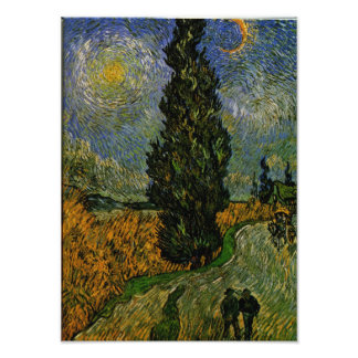 Country road in Provence - Van Gogh Photo Art
