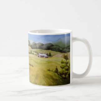 Country Road Mug rural farm barn shed fence summer