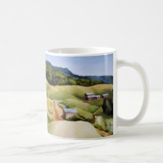 Country Road Mug rural landscape farm fields barn