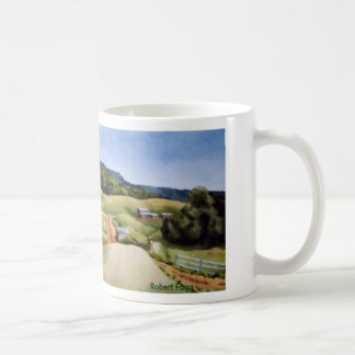 Country Road Mug rural landscape farm fields barns