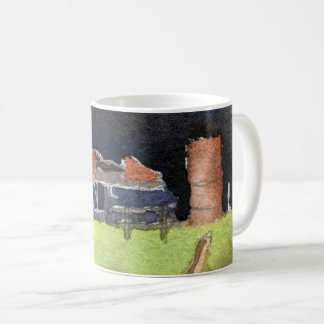Country Road Mug rural large barn green field silo