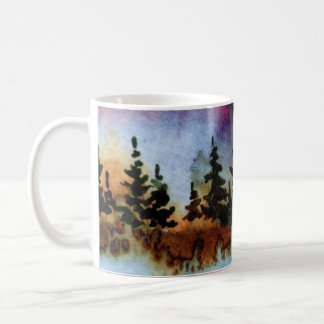 Country Road Mug rural pine rock cliff ocean wave