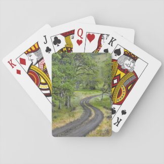 Country road through trees, Oregon Playing Cards