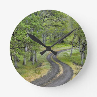 Country road through trees, Oregon Round Clock