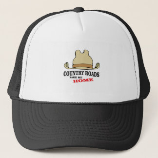 country roads take me home dude trucker hat