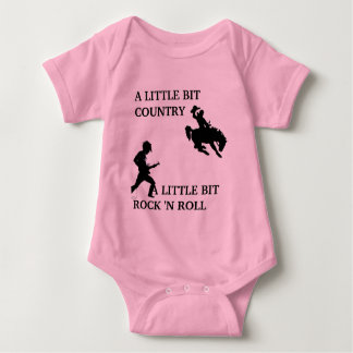 country rock n roll baby bodysuit