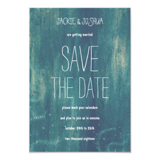 """Country Rustic Blue Stars Save the Date 3.5"""" X 5"""" Invitation Card"""