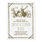 Country rustic deer save the date postcards