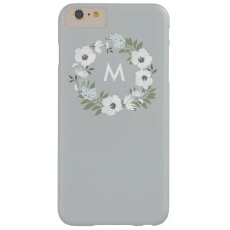 Country Rustic Floral Wreath Monogram Custom Color Barely There iPhone 6 Plus Case