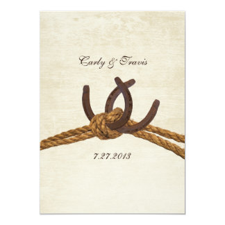Country Rustic Horseshoes Wedding 13 Cm X 18 Cm Invitation Card