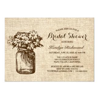 Country Rustic Mason Jar Bridal Shower Card
