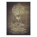 country rustic mason jar floral bridal shower 13 cm x 18 cm invitation card