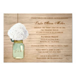 Country Rustic Mason Jar Hydrangea Bridal Shower 13 Cm X 18 Cm Invitation Card
