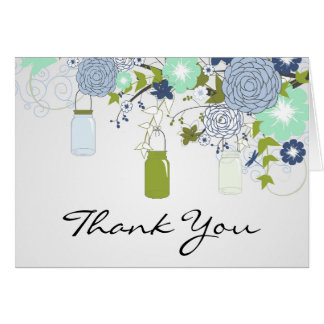 Country Rustic Mason Jar Thank You Card