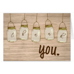 Country Rustic Mason Jar Thank You Note Note Card