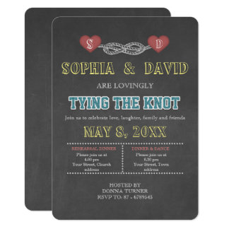 Country Rustic Tying the Knot REHEARSAL DINNER Card