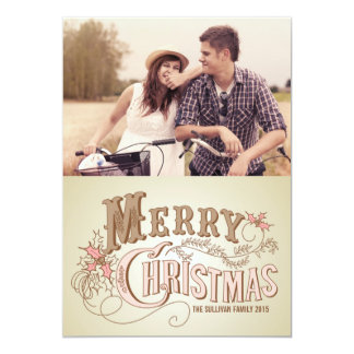 Country Rustic Typography | Holiday Photo Card