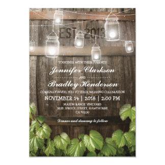 Country Rustic Wedding | Barrel Vine 13 Cm X 18 Cm Invitation Card